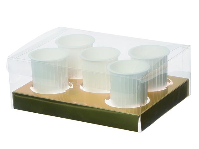 デザートボックス 5個用 金台紙付 (10枚入)