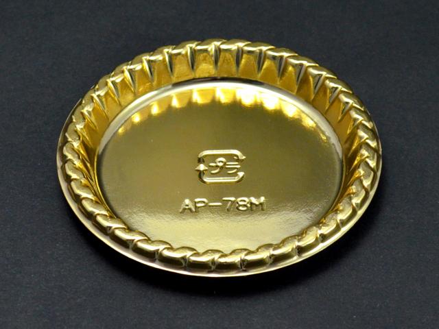 ケーキトレー AP-78M ゴールド (100枚入)