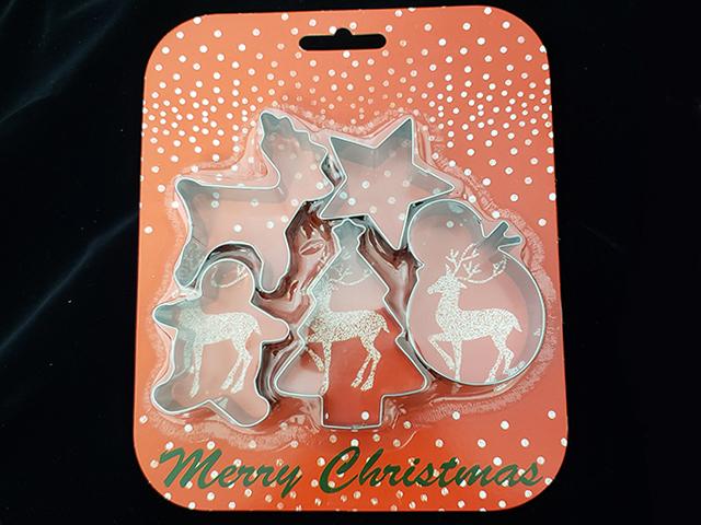 クリスマス クッキーカッター(5種入)