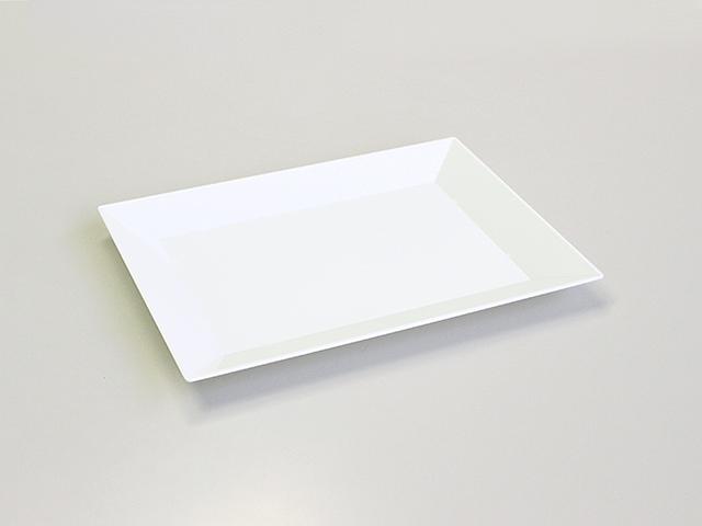ニシキ 角皿(特小) 白磁 (20枚/240枚入)