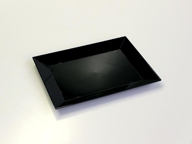 ニシキ 角皿(特小) 黒 (20枚/240枚入)