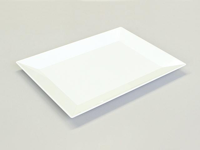 ニシキ 角皿(中) 白磁 (10枚/100枚入)