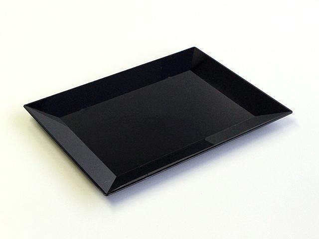 ニシキ 角皿(中) 黒 (10枚/100枚入)