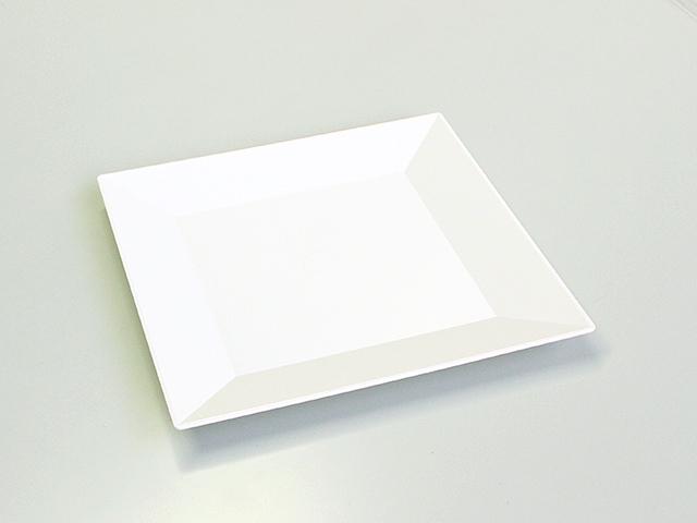 ニシキ 角皿(20) 白磁 (20枚/240枚入)
