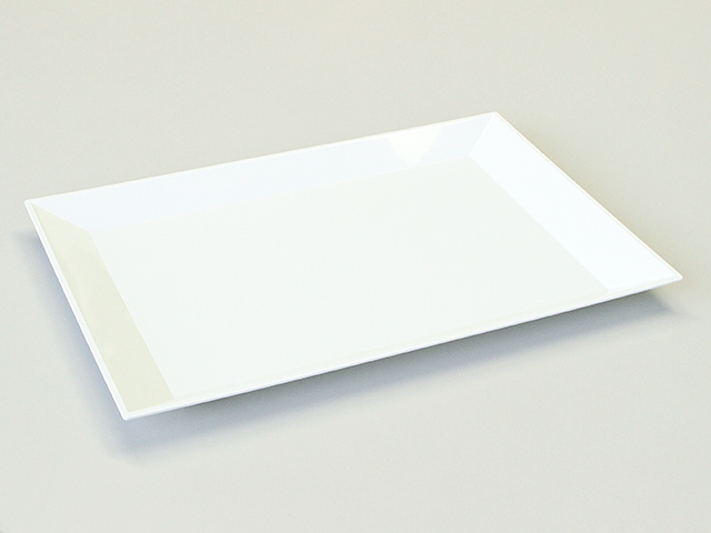 ニシキ 角皿(大) 白磁 (10枚/80枚入)