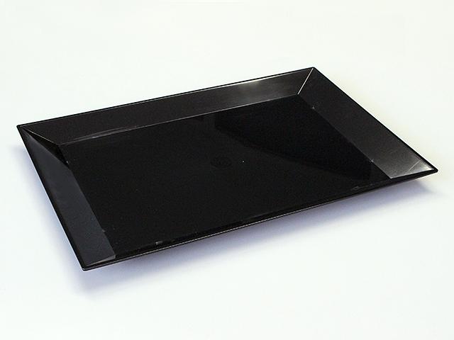 ニシキ 角皿(大) 黒 (10枚/80枚入)
