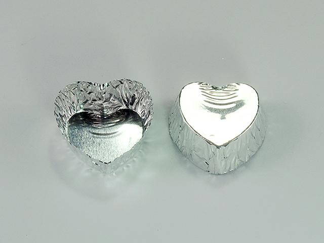 ハートチョコカップ 銀 (100枚入)