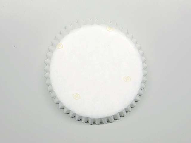 純白ペット 白無地 紙マーク 80φ×21.5H (300枚入)