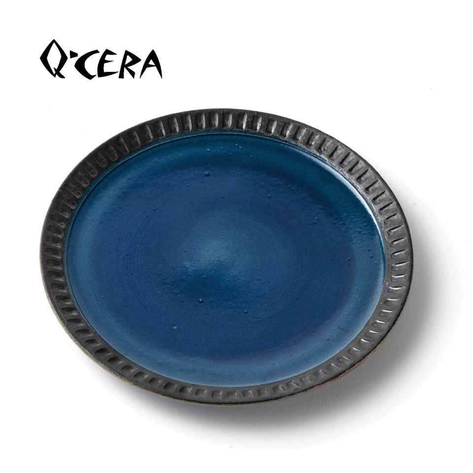 瑠璃7寸皿【Q-CERA(丸田博人)】