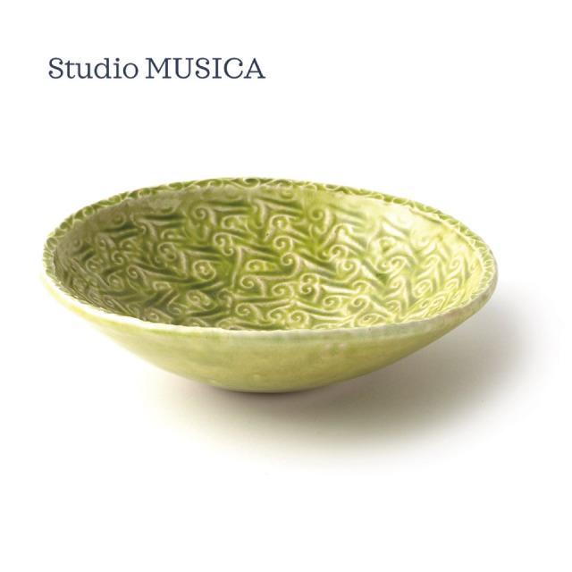 緑釉印文丸鉢【Studio  MUSICA(児島和孝)】