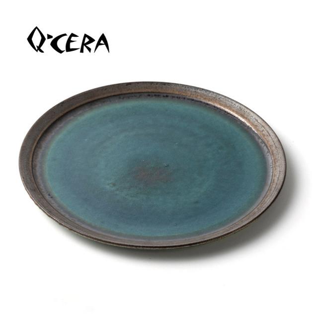 瑠璃大皿【Q-CERA(丸田博人)】