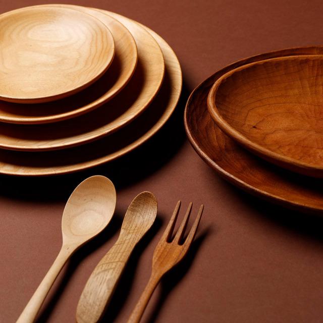 オーバル皿(パイン・ウォールナット・チェリー・オーク)【ことのは木工舎(阿部祥次郎)】