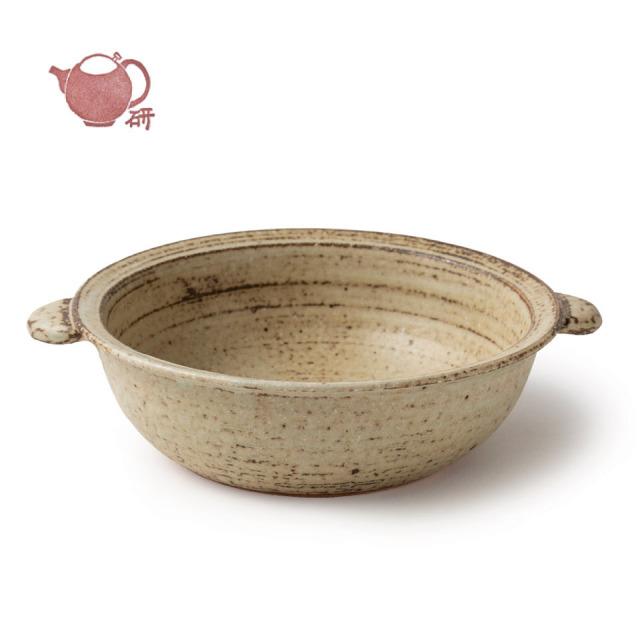 灰釉グラタン皿(大)【うつわと手仕事の店 研(敦賀研二)】