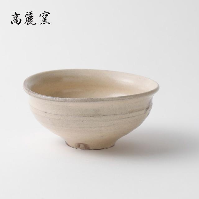 粉引 たわみ碗【高麗窯】※受注生産