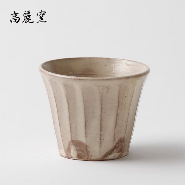 粉引 面取フリーカップ【高麗窯】※受注生産