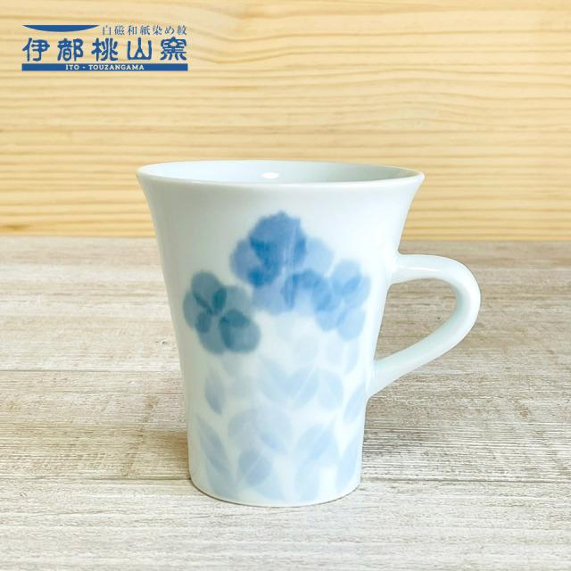 和紙染の花紋マグカップ【伊都桃山窯(赤間厚子)】※受注生産