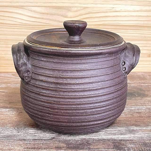 耐熱両手土鍋【窯元ろくろ】※受注生産