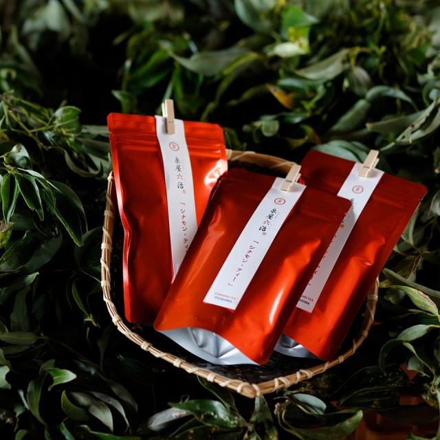 [まとめ買いでお得!送料無料]シナモン・椿茶・マルベリー・シトロネル 4種セット【泉屋六治】