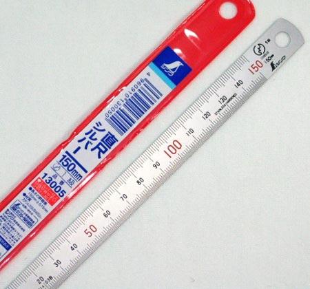ステン定規 15cm シンワ製