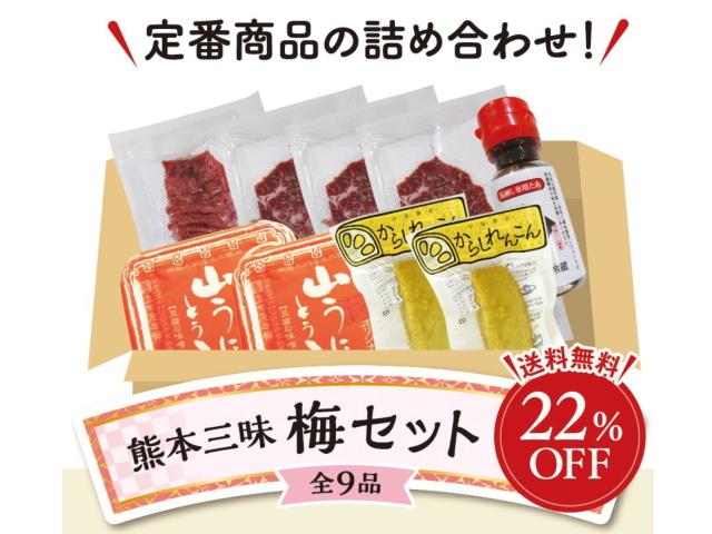K2101m 熊本三昧梅セット【送料無料・冷凍】