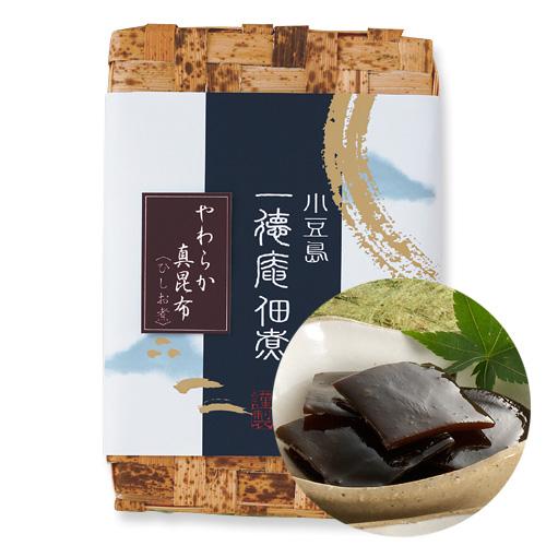 0300-2 やわらか真昆布 ひしお煮(竹かご入り)280g(140g×2)