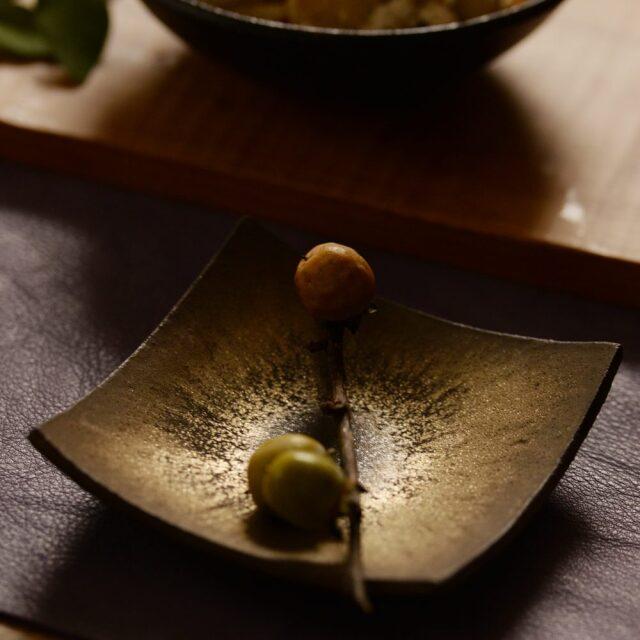 橋本忍 赤鋼(akagane)角小皿