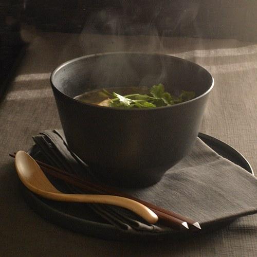 小野俊 黒鉄釉 麺鉢