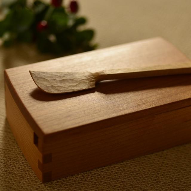 ふるいともかず 木製バターケース(木製ナイフ付)