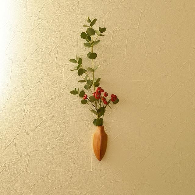 ふるいともかず 木製一輪挿し 冬芽