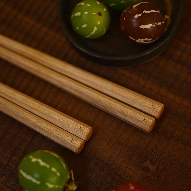 ふるいともかず 木製八角箸 カバ材