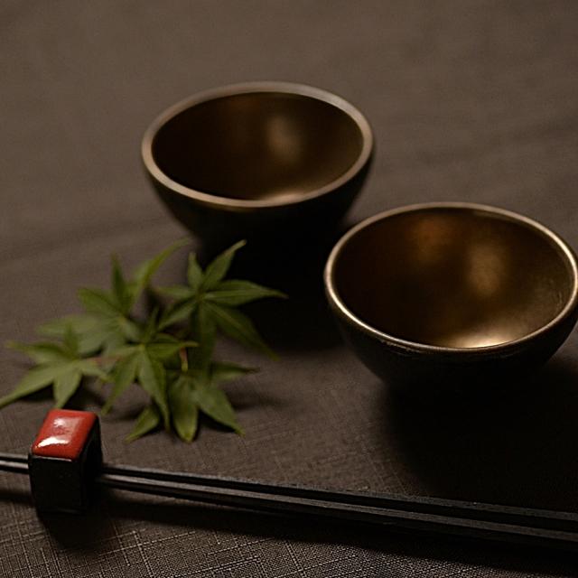 奥田章 金彩豆鉢ミニ
