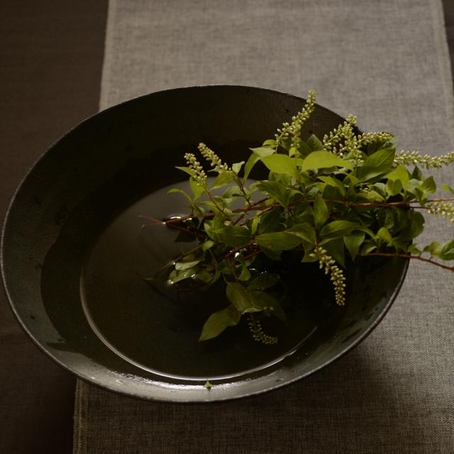 大野香織 銹黒大鉢