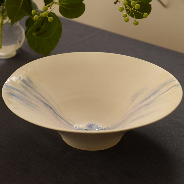 紫蓮 shell marble 反鉢 藍流 9寸