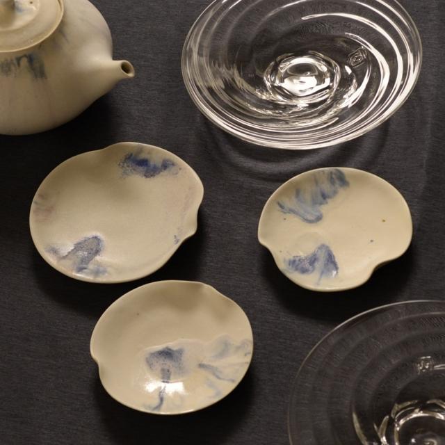 紫蓮   睡蓮プレート 藍流