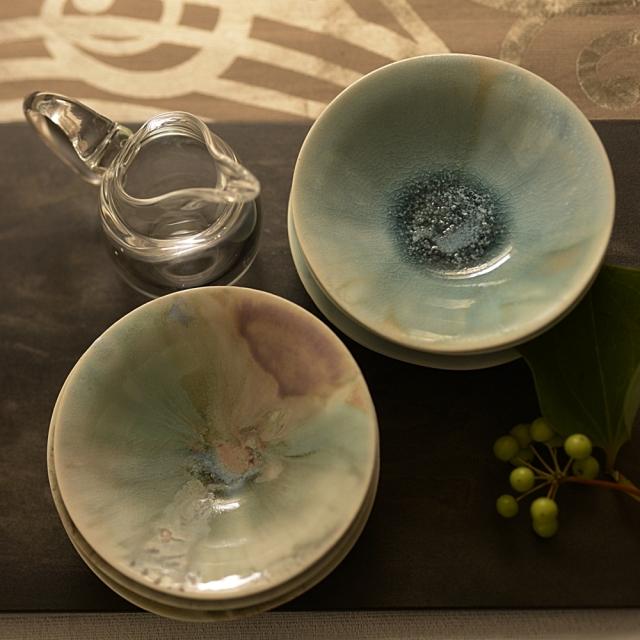 紫蓮 4寸ボウル turquoise