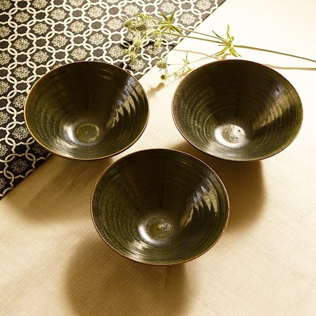 水野幸一 織部 鉢