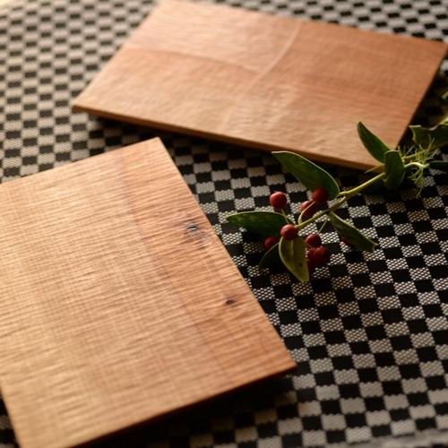 後藤文生 天然木 長方形プレート 21cm