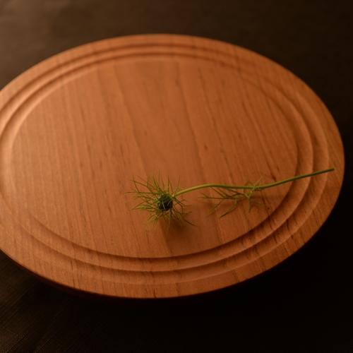 後藤文生 パンケーキ皿 彫りなし 24cm