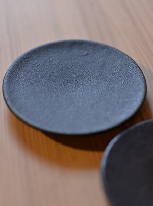 大野香織 黒釉豆皿