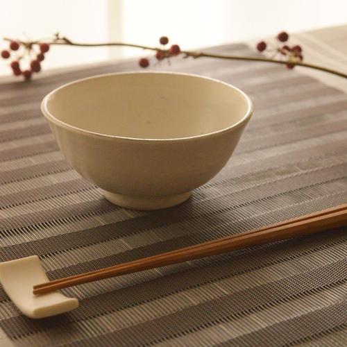 長尾徳太郎 粉引き飯碗プレーン(小)