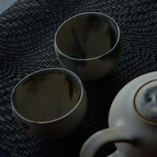 紫蓮 monet藍 湯飲み