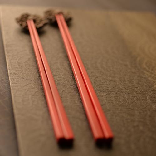 甲斐のぶお工房 竹箸 赤