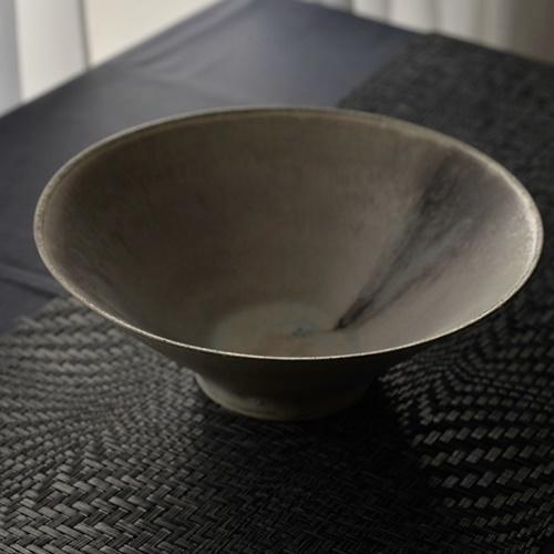 紫蓮 錫彩大鉢