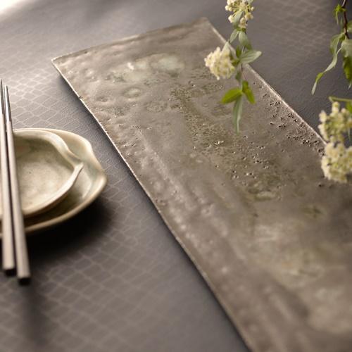 紫蓮 black 長板皿