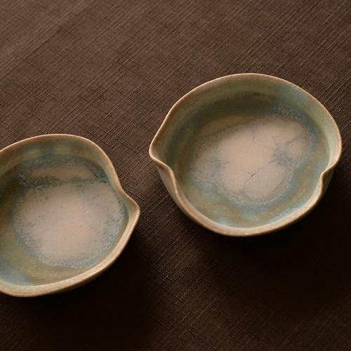 紫蓮 robin egg blue 睡蓮プレート