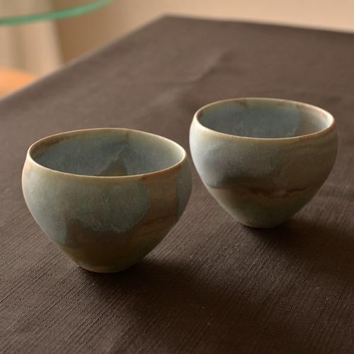 徳山久見子 robin egg blue カップ(フリーカップ、湯飲み)