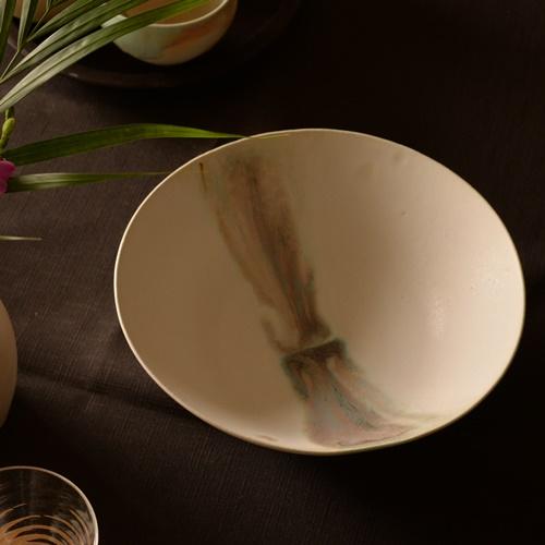紫蓮 shell marble(ブルーグリーン) サラダボウル