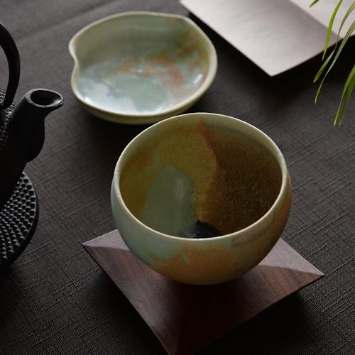 徳山久見子 monet 三彩  カップ(フリーカップ、湯飲み)