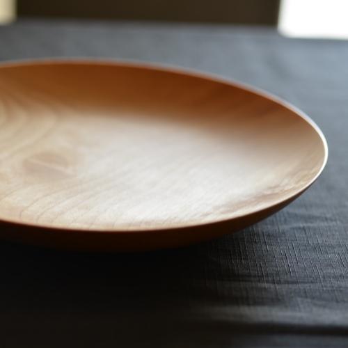 後藤文生 天然木 木皿 27cm