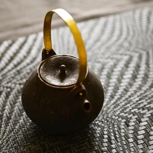 大原光一 黒釉 土瓶急須(小)